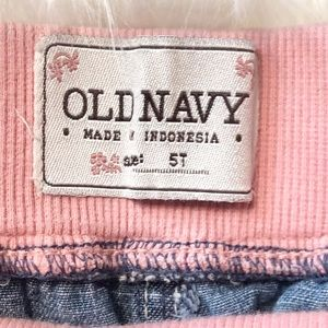 Old Navy Bottoms - Old Navy Girls Pink Elastic Waist Jeans